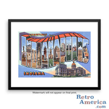 Greetings from Indianapolis Indiana IN 1 Postcard Framed Wall Art