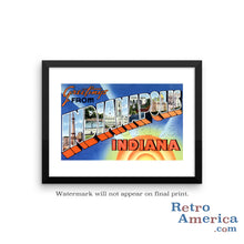 Greetings from Indianapolis Indiana IN 2 Postcard Framed Wall Art