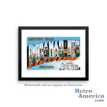Greetings from Indianapolis Indiana IN 3 Postcard Framed Wall Art