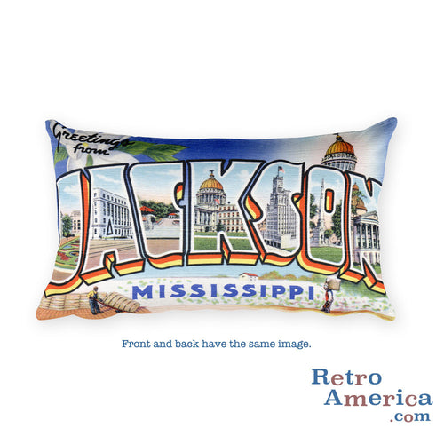 Greetings from Jackson Mississippi Throw Pillow