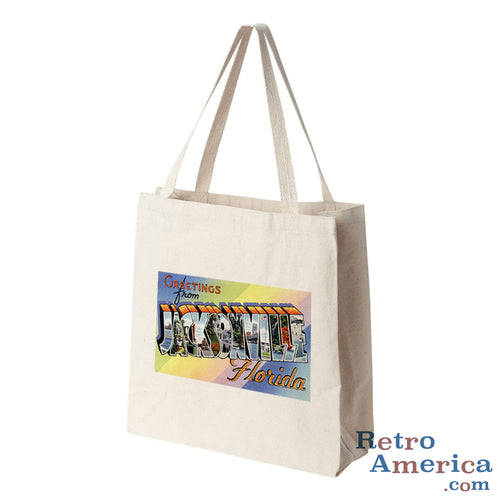 Greetings from Jacksonville Florida FL 1 Postcard Tote Bag