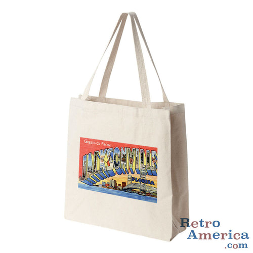 Greetings from Jacksonville Florida FL 2 Postcard Tote Bag