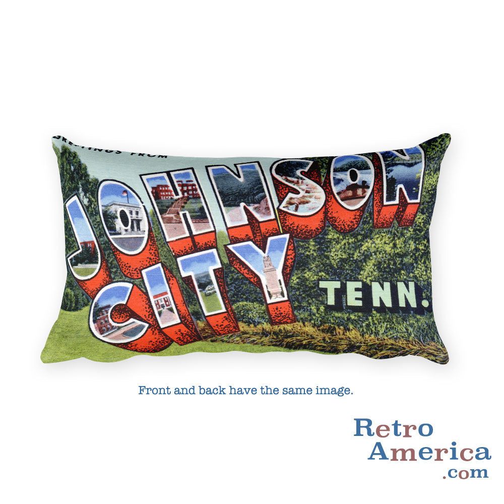 Greetings from Johnson City Tennessee Throw Pillow
