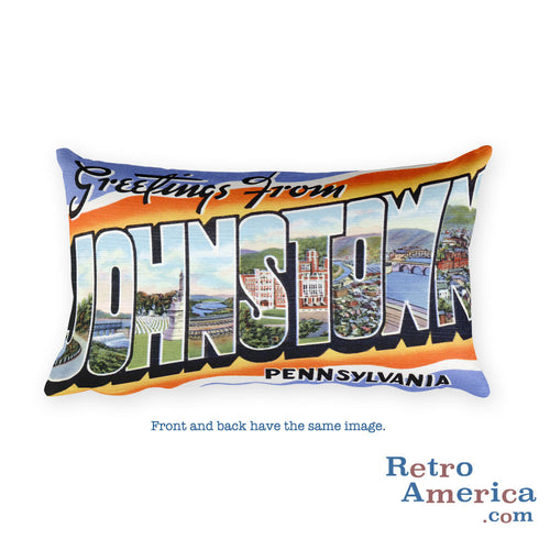 Greetings from Johnstown Pennsylvania Throw Pillow