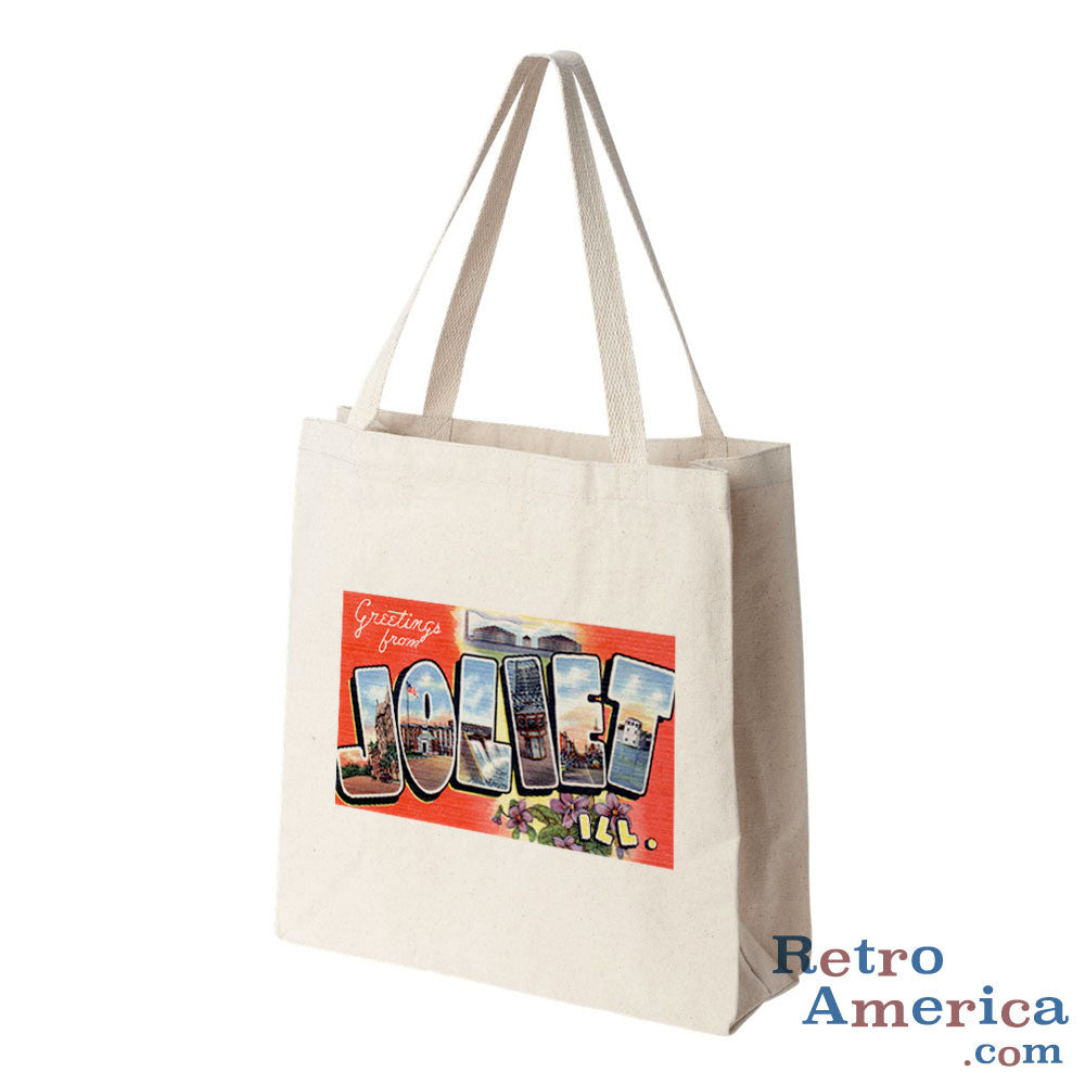 Greetings from Joliet Illinois IL Postcard Tote Bag