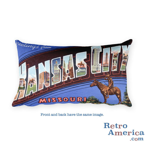 Greetings from Kansas City Missouri Throw Pillow 1