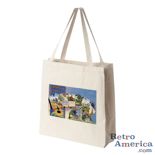 Greetings from Kansas KS 1 Postcard Tote Bag