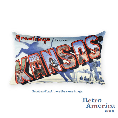 Greetings from Kansas Throw Pillow 3