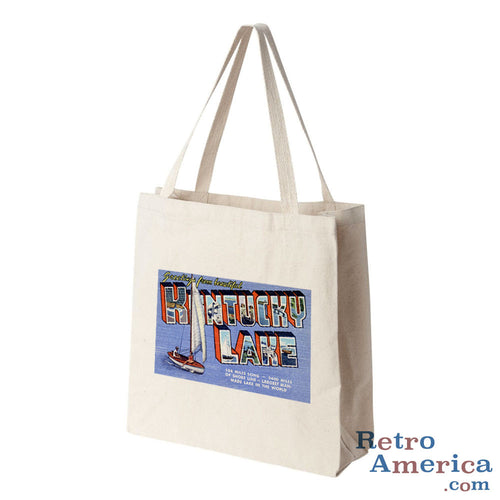 Greetings from Kentucky Lake Kentucky KY Postcard Tote Bag