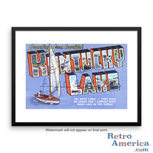 Greetings from Kentucky Lake Kentucky KY Postcard Framed Wall Art