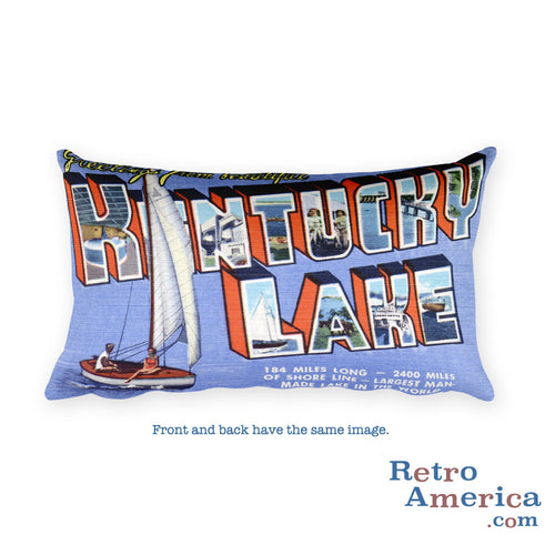 Greetings from Kentucky Lake Kentucky Throw Pillow