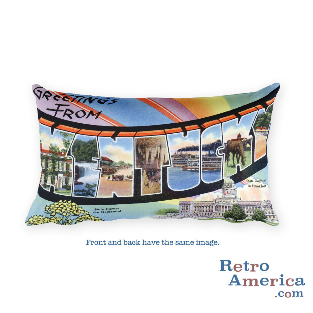 Greetings from Kentucky Throw Pillow 1
