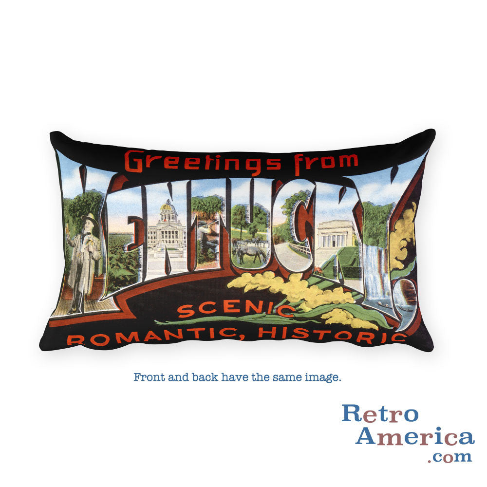 Greetings from Kentucky Throw Pillow 2