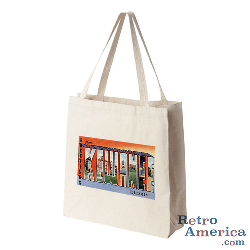 Greetings from Kewanee Illinois IL Postcard Tote Bag