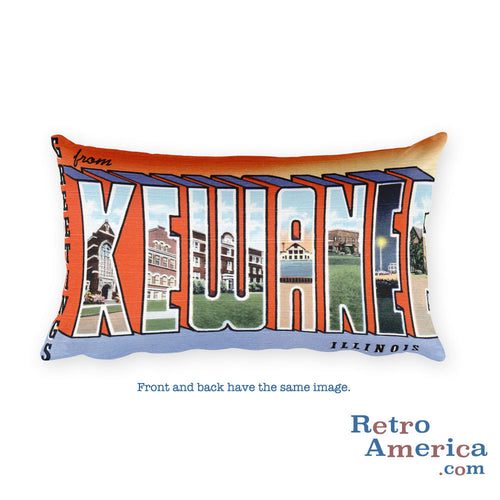 Greetings from Kewanee Illinois Throw Pillow