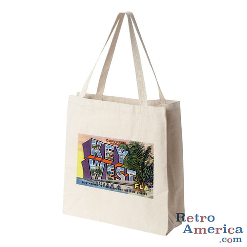 Greetings from Key West Florida FL Postcard Tote Bag