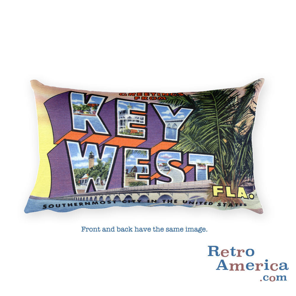 Greetings from Key West Florida Throw Pillow
