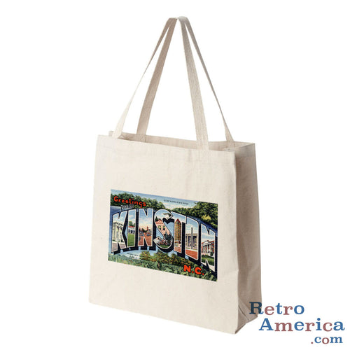 Greetings from Kinston North Carolina NC Postcard Tote Bag