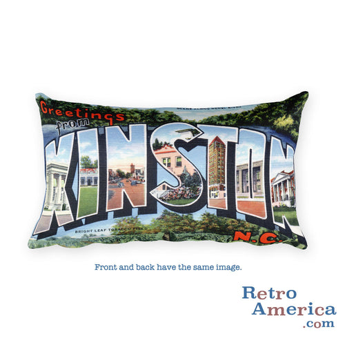 Greetings from Kinston North Carolina Throw Pillow
