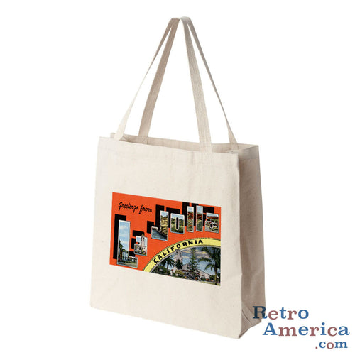Greetings from La Jolla California CA 2 Postcard Tote Bag