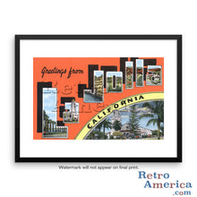 Greetings from La Jolla California CA 2 Postcard Framed Wall Art