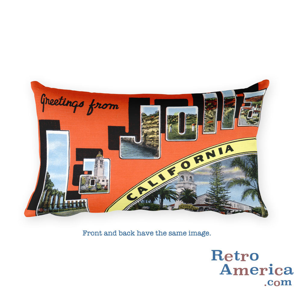 Greetings from La Jolla California Throw Pillow 2