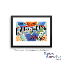 Greetings from Lakeland Florida FL Postcard Framed Wall Art