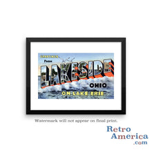 Greetings from Lakeside Ohio OH Postcard Framed Wall Art