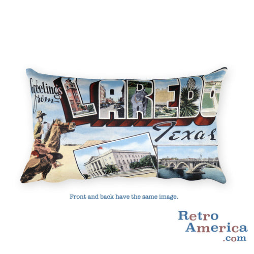 Greetings from Laredo Texas Throw Pillow