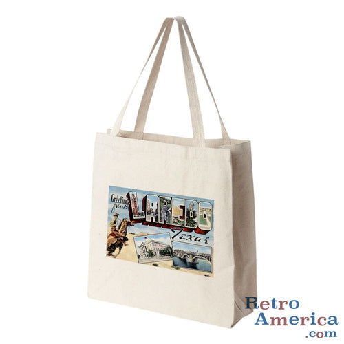 Greetings from Laredo Texas TX Postcard Tote Bag