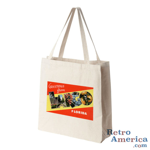 Greetings from Largo Florida FL Postcard Tote Bag
