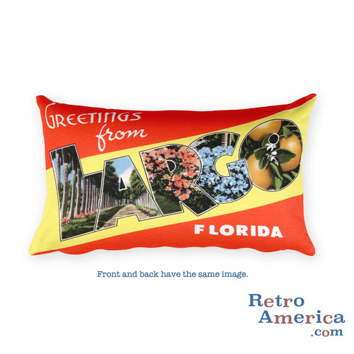 Greetings from Largo Florida Throw Pillow