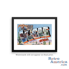 Greetings from Las Vegas Nevada NV 2 Postcard Framed Wall Art