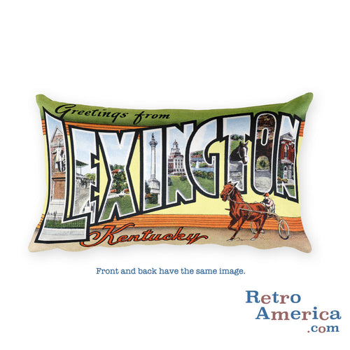 Greetings from Lexington Kentucky Throw Pillow