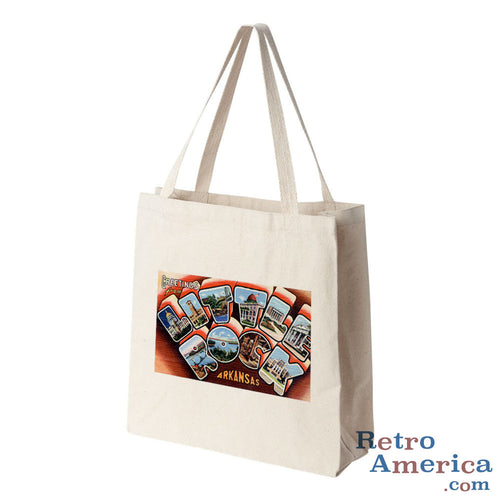 Greetings from Little Rock Arkansas AR 2 Postcard Tote Bag