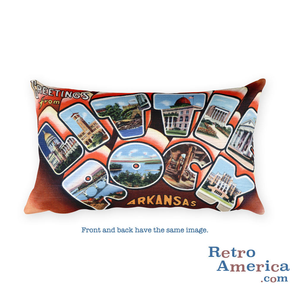 Greetings from Little Rock Arkansas Throw Pillow 2
