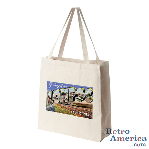 Greetings from Lompoc California CA Postcard Tote Bag