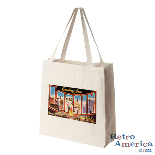 Greetings from Lorain Ohio OH Postcard Tote Bag