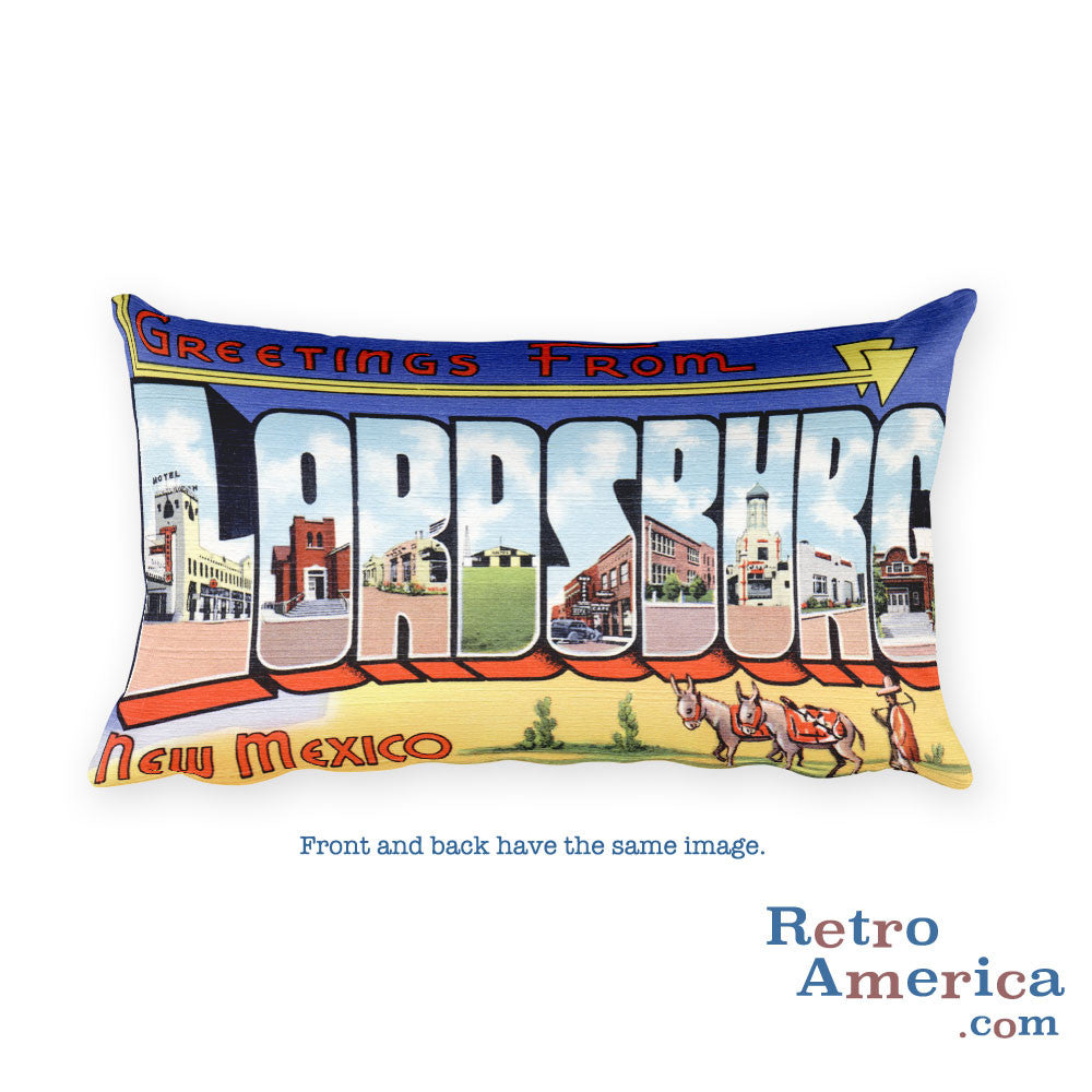 Greetings from Lordsburg Arizona Throw Pillow