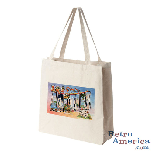 Greetings from Los Angeles California CA 2 Postcard Tote Bag