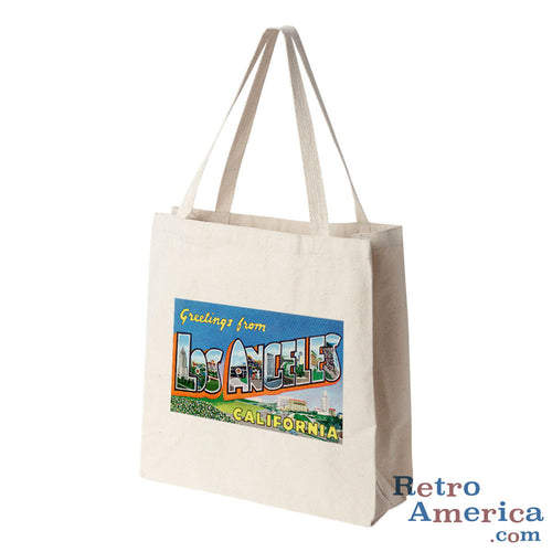 Greetings from Los Angeles California CA 4 Postcard Tote Bag