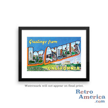 Greetings from Los Angeles California CA 4 Postcard Framed Wall Art