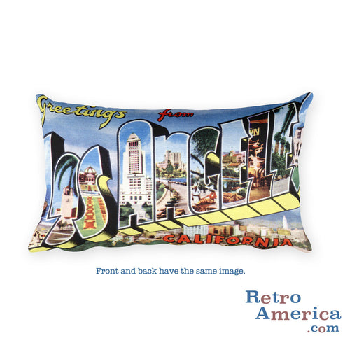 Greetings from Los Angeles California Throw Pillow 3