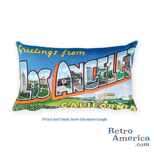 Greetings from Los Angeles California Throw Pillow 4