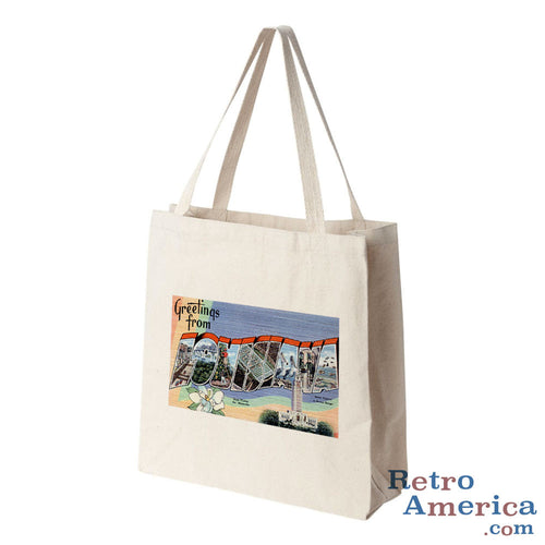 Greetings from Louisiana LA 1 Postcard Tote Bag