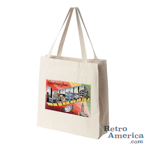 Greetings from Louisiana LA 3 Postcard Tote Bag