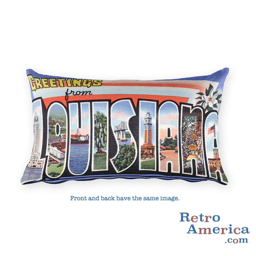 Greetings from Louisiana Throw Pillow 2