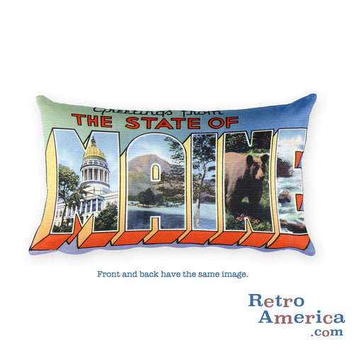 Greetings from Maine Throw Pillow 4