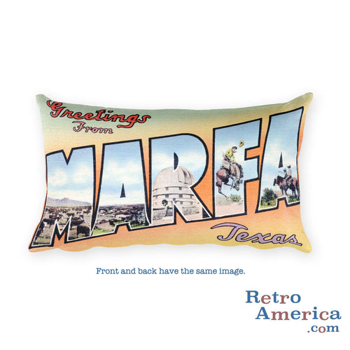 Greetings from Marfa Texas Throw Pillow