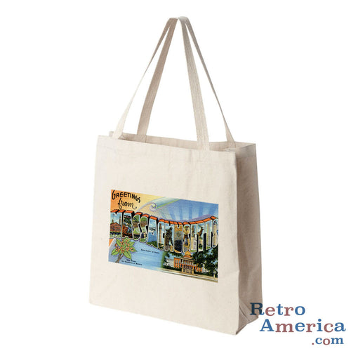 Greetings from Massachusetts MA 1 Postcard Tote Bag